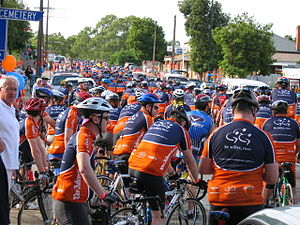Tour Down Under - Participants in the 2005 Be Active Tour at Angaston