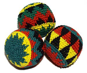 Bean bag - Small bean bags are commonly used as juggling props.