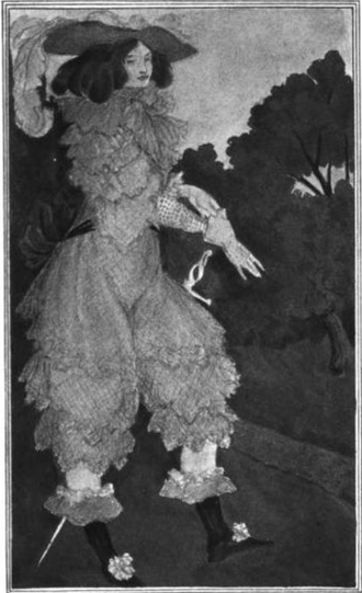 Julie d'Aubigny - The fictional Mademoiselle de Maupin, from Six Drawings Illustrating Theophile Gautier's Romance Mademoiselle de Maupin by Aubrey Beardsley, 1898