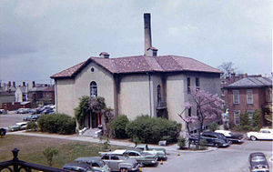Columbus College of Art and Design - Beaton Hall, taken from the Columbus Museum of Art (1960s)