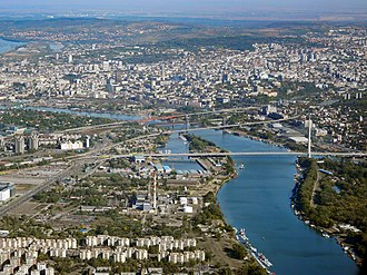 Panoramic view of central Belgrade Belgrade from LH1407.jpg