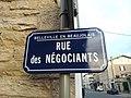 Belleville - Rue des Négociants - Plaque (mai 2019).jpg