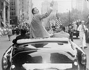 Hogan's homecoming ticker-tape parade in New York, 1953