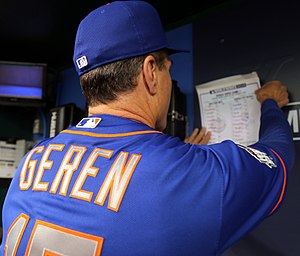 Bob Geren - Geren as bench coach for the New York Mets during the 2015 World Series.