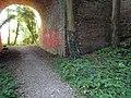 Benchmark, railway bridge, Combe Wood, Bexhill (2).jpg