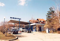 Gasoline station in Aleksandrovac