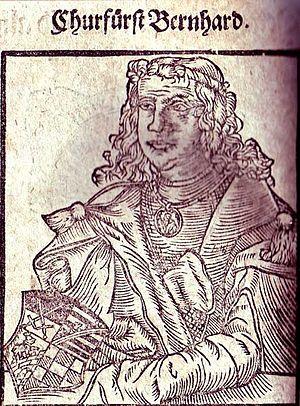 Bernhard, Count of Anhalt - Image: Bernhard von Sachsen