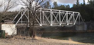 National Register of Historic Places listings in Cherry County, Nebraska - Image: Berry Bridge (Niobrara River) from US 3