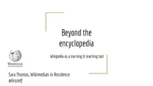 Beyond the encyclopedia, Wikipedia as a learning and teaching tool.pdf