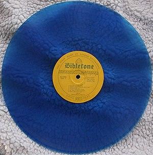 Bibletone Records - blue-vinyl Bibletone pressing, Stamps-Baxter Quartet
