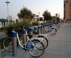 Bicycle rental Malaga Spain.jpg