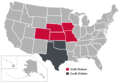 Big 12 Divisions Map.png