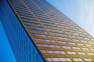 U.S. Bancorp Tower - Image: Big pink low angle