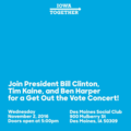 Bill Clinton, Tim Kaine, Ben Harper Get Out the Vote Concert Des Moines (November 2).png