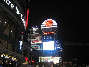 IHeartMedia - Billboards at Dundas Square in Toronto, owned by Clear Channel.