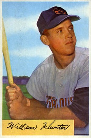 Billy Hunter (baseball) - Image: Billy Hunter 1954bowman
