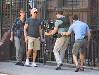 Birdman (film) - Michael Keaton (Riggan) rehearsing an action-sequence of the film