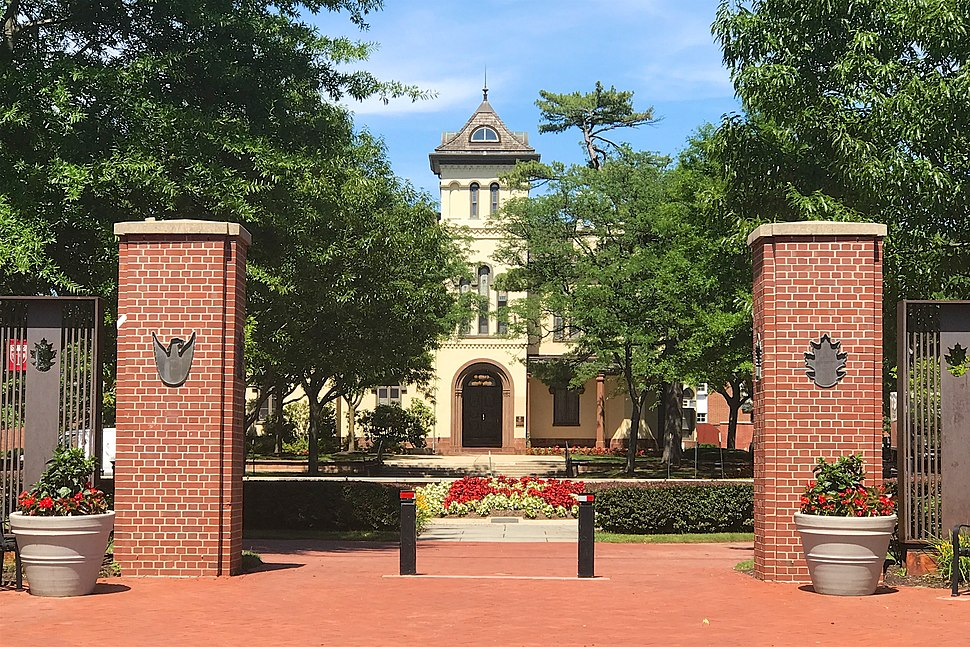 Bishop House, New Brunswick, NJ - campus gate