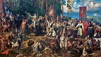 "Kościuszko Uprising - ""Battle of Racławice"", Jan Matejko, oil on canvas, 1888, National Museum in Kraków. 4 April 1794"