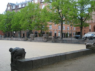 Blågårds Plads - A section of the wall