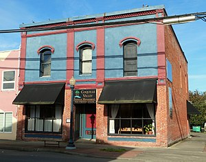 National Register of Historic Places listings in Coos County, Oregon - Image: Black and Co Bldg Myrtle Point Oregon