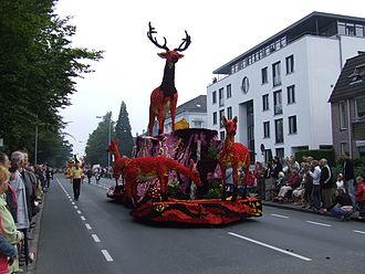 Bloemencorso - Float in flower parade in Winterswijk