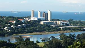 Durban North - Tower blocks of Prospect Hall north of the Blue Lagoon