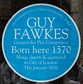 Blue Plaque, Guy Fawkes Inn, 25 High Petergate York, Yorkshire (geograph 4997480).jpg