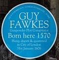 Blue Plaque, Guy Fawkes Inn, 25 High Petergate York, Yorkshire (geograph 4997480).jpg