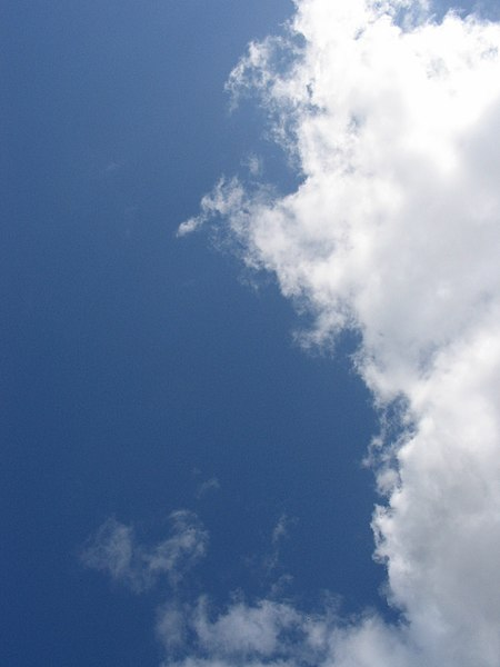 File:Blue sky and hazy cloud.jpg