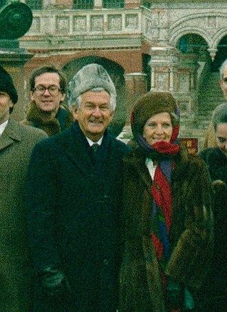 Hazel Hawke - Bob and Hazel Hawke on their 1987 visit to the Soviet Union
