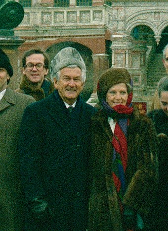Hawke and his first wife, Hazel, on a 1987 trip to Moscow. Bob and Hazel Hawke 1987.jpg