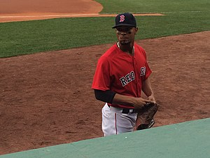 Xander Bogaerts - Bogaerts before a game in 2016