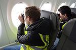 Bombardier CS100 at Brussels Airport (25013445373).jpg
