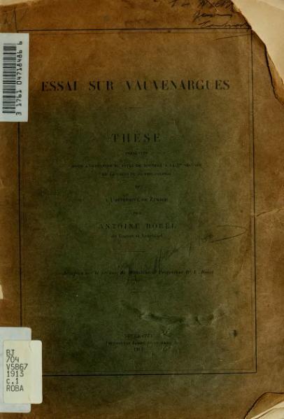 File:Borel - Essai sur Vauvenargues, 1913.djvu