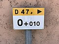 Borne Km 0.010 Route D47a Vonnas 2.jpg