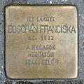 Boschán Franciska stolperstein (Budapest-14 Semsey Andor u 12).jpg