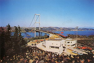 Bosphorus Bridge - Opening day of the bridge.