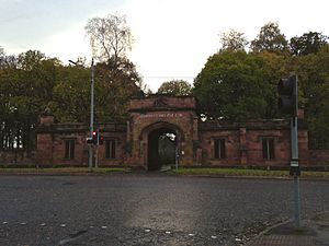 Bothwell - The entrance to Bothwell Castle Golf Club, located on Bothwell Road.