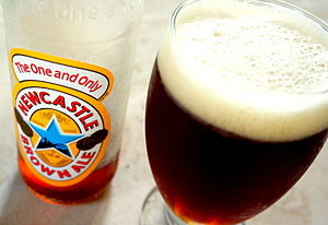 Newcastle Brown Ale - A glass of Newcastle Brown Ale.
