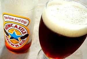 Newcastle Brown Ale - A glass of Newcastle Brown Ale.