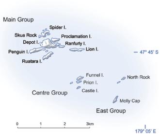 Bounty Islands - Map of Bounty Islands