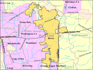 Bowie Maryland Wikipedia - Maryland city map