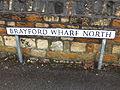 Brayford Wharf North sign, Lincoln, England - DSCF1598.JPG