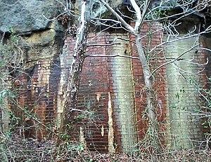 Athens-Belpre Rail-Trail - Image: Brick wall on ABRT