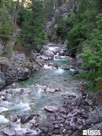 Stehekin River - Image: Bridge Creek, a Stehekin River tributary