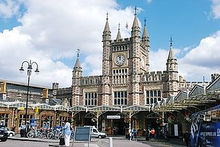 Major railway station for the city of Bristol, England