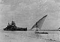 British battleship Howe sailing down the Suez Canal.jpg