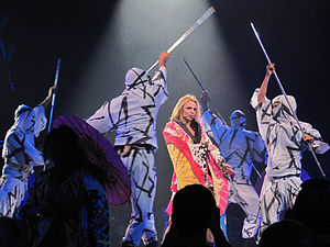 "Toxic (song) - Spears performing ""Toxic"" at the Femme Fatale Tour."