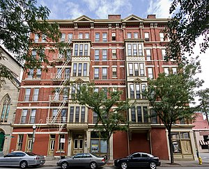 National Register of Historic Places listings in downtown Cincinnati - Image: Brittany Apartments